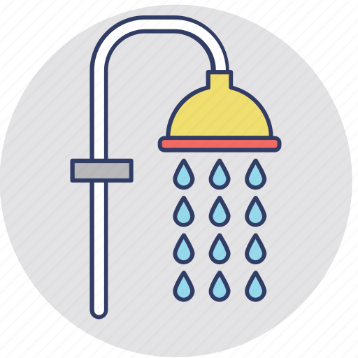 bath accessory, bath shower, bathe, cleanness, shower head icon