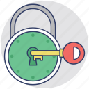 key lock, lock, padlock, real estate concept, security icon