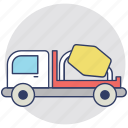 cement mixer, cement truck, concrete mixer truck, construction vehicle, mix truck icon