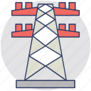 electric pole, electric pylon, electric tower, electricity power plant, high voltage power