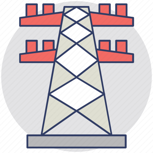 Electric pole, electric pylon, electric tower, electricity power plant, high voltage power icon - Download on Iconfinder