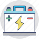 accumulator, auto battery, automobile battery, battery, car battery icon