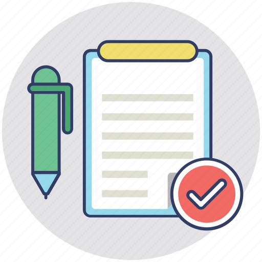 accounts, files, notes, records, writing icon