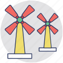 aerogenerator, pinwheel, whirligig, wind power, windmill icon