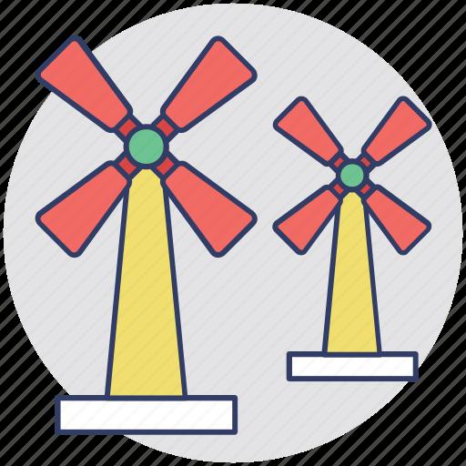 aerogenerator, pinwheel, whirligig, wind power, windmill icon