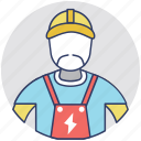 electrical engineer, electrician, electronics technician, lineman, wireman icon