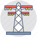 electric pole, electric pylon, electric tower, electricity power plant, high voltage power icon