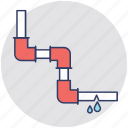 pipes, plumbing, potable water, pvc pipes, valves icon