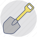 digging tool, garden trowel, hand trowel, shovel, spade icon