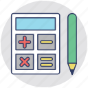 calculation, calculator, estimation, figuring, mathematics icon