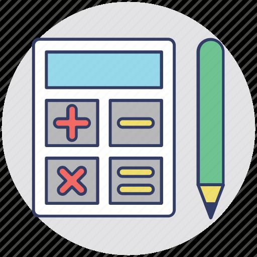 calculation, calculator, estimation, figuring, mathematics icon