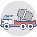 concrete, concrete truck, container, transport, truck icon