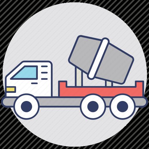 concrete, concrete truck, container, transport, truck icon
