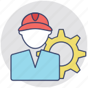 auto repair, electrician, service man, technician, worker icon
