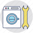 domestic appliance, machine repairing, plumber, technician, washing machine repair icon
