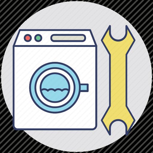 domestic appliance, machine repairing, plumber, technician, washing machine repair icon