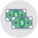 cash, currency, dollar, money, paper money icon