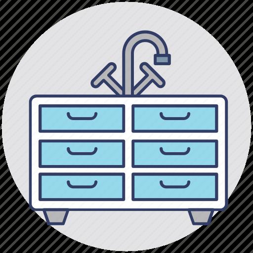 bathroom interior, furnished bathroom, sink, washbasin, washbasin cabinet icon