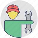 occupation, pipefitter, plumber, tradesperson, worker icon