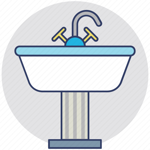 Wash basin, bathroom interior, sink, bathroom sink, kitchen sink icon