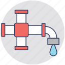 faucet, plumbing, pvc, sanitary fitting, water tap icon