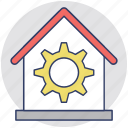 factory, garage, industry, repairing, service center icon