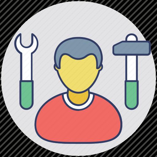 engineer, handyman, labourer, repairman, worker icon