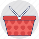 basket, cart, grocery, hamper, shopping icon
