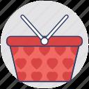 basket, grocery, shopping, hamper, cart
