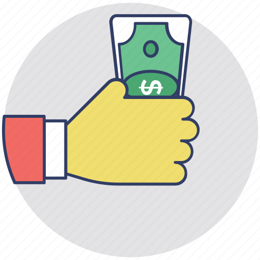 Dollar, give money, hand money, money, payment icon - Download on Iconfinder