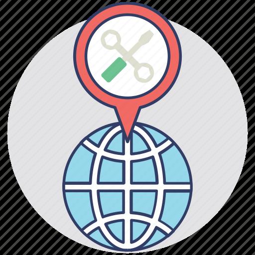 global service, online maintenance, online service, web maintenance, world class maintenance icon