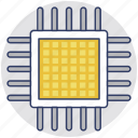 cpu chip, electronic, hardware, microprocessor, processor chip icon