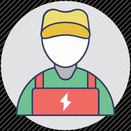 electrical engineer, electrician, electronics technician, lineman, wireman icon