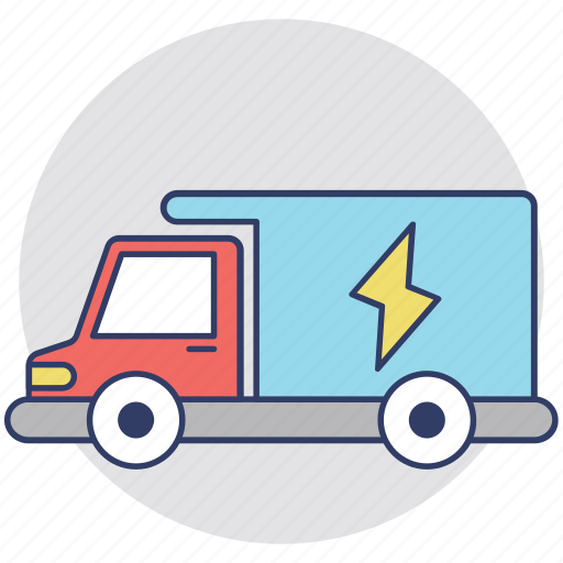 Electric supply transport, electric transport, electricity provider, electricity services, thermal power supply icon - Download on Iconfinder