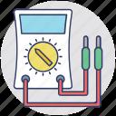 ammeter, ampere, meter, multimeter, voltmeter icon