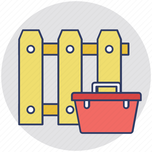 fence fixing, fence repairing, fence support, garden fence, maintenance icon