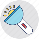 electric torch, flashlight, hand torch, pocket torch, torch icon