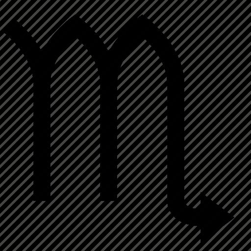 horoscope, scorpio, sign icon