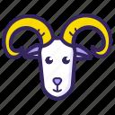 animal, aries, astrology, goat, horoscope, sign, zodiac