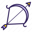 weapon, sign, sagittarius, horoscope, zodiac, archer, arrow icon