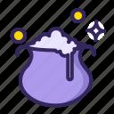 spell, pot, magic, boil, water, heat, boiler icon