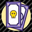 dead, death, skull, gipse, card, tarot, worst icon