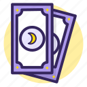 card, cards, fortune, future, moon, star, tarot icon