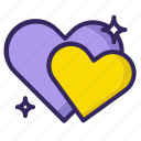 heart, hearts, love, romance, romantic, wink