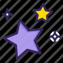 new, star, stars, wink