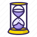 sand, time, timer, wait, waiting icon