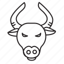 animal, bull, gaur, horoscope, sign, taurus, zodiac icon