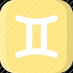 astrology, gemini, horoscope, horoscopes, sign, stars, zodiac icon