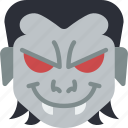 creepy, emojis, halloween, horror, scary, spooky, vampire icon