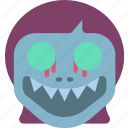creepy, demon, girl, halloween, horror, scary, spooky icon